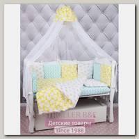 Комплект в кроватку AmaroBaby Happy Baby, 4 предмета, поплин / бязь