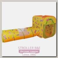 Игровой домик Ching-Ching Бабочки квадрат + туннель + 100 шаров