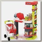 Супермаркет игровой Smoby City Shop 350211 со светом и звуком, 27 аксессуаров