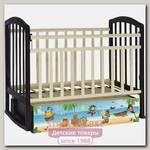 Детская кроватка Антел Пираты Алита-4, поперечный маятнк + закрытый ящик