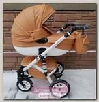 Детская коляска Riko Bruno (Brano) 3 в 1, эко-кожа