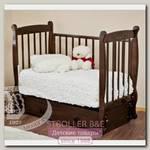 Кроватка детская Красная звезда Можга Елисей С 717 продольный маятник резьба №10 птички