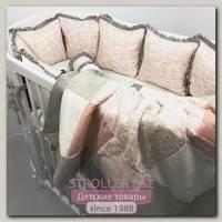 Комплект постели для круглой и овальной кроватки Marele Прованс 460205-10, 18 предметов
