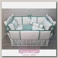 Комплект постели в кроватку Marele Изумрудная Классика 460045, 10 предметов