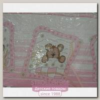 Комплект в кроватку Сонная сказка Зайки в Ромашках, 7 предметов