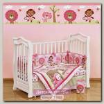 Комплект в кроватку Giovanni Shapito Pink Zoo Джованни Шапито Пинк Зу, 7 предметов