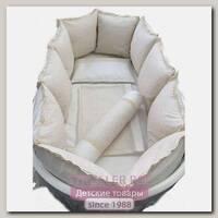 Комплект постели для прямоугольной кроватки Marele Ванильные Кружева 460018-12, 18 предметов
