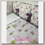 Комплект постели для круглой и овальной кроватки Marele Принцесса на Горошине 460249-ов, 18 предметов
