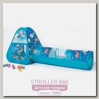 Игровой домик Ching-Ching Океан треугольник + туннель + 100 шаров