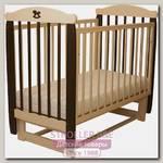 Детская кроватка Соня 04 Лошадка Колор, поперечный маятник, без ящика