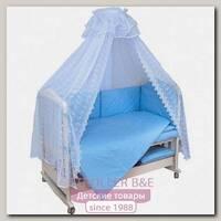Комплект постельного белья Мой Ангелок Верные друзья Б 2034 в кроватку, 7 предметов