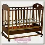 Кроватка детская Ведрус Иришка 2, колесо/качалка, с ящиком, накладка сердечко