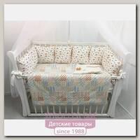 Комплект постели для прямоугольной кроватки Marele Машинки 460200-12, 18 предметов