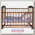 Детская кроватка Н. Новгород Мишутка 12, колесо + качалка, автостенка