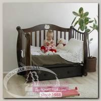 Кровать детская Красная Звезда Можга С 707 Валерия продольный маятник аппликация №22 Мишка на облачке