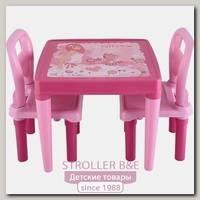 Набор из стола и двух стульев Pilsan Violet & Hobby, 03-414