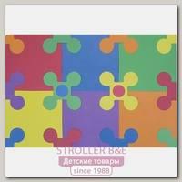 Игровой коврик-пазл Funkids 12' Цветы-12 KB-049-30FL-NT, 30 квадратов + коннекторы