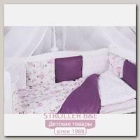Комплект постели в кроватку AmaroBaby Амели, 15 предметов, бязь