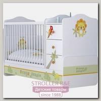 Детская кроватка-трансформер Polini Basic Джунгли