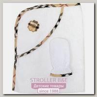 Комплект Топотушки Эклер: полотенце-уголок + варежка