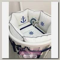 Комплект постели для овальной кроватки Marele Севастополь 460223-ов, 20 предметов