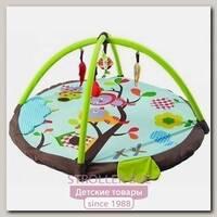 Детский коврик Felice F Птицы на Ветке с игровыми дугами и игрушками, 95 х 95 х 45 см