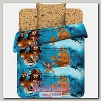 Детский комплект постельного белья ТМ Василек Дисней Пираты Карибского моря ВАС_7031/1, бязь