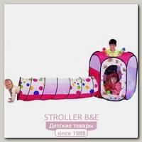 Детская палатка Calida Шестигранник + туннель + 100 шаров