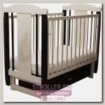 Детская кроватка Соня 04 Заяц с Бантом, поперечный маятник, с ящиком