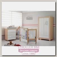 Комплект Micuna Neus Lux №12: кроватка 120 х 60 см + тумба + шкаф