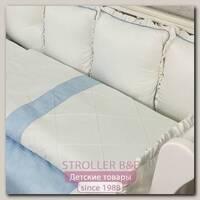 Комплект постели для круглой и овальной кроватки Marele Греческий Голубой 460251-ов, 19 предметов