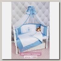 Комплект постели Premium в кроватку AmaroBaby Sweet Dreams, 7 предметов, сатин