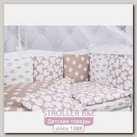 Комплект постели в кроватку AmaroBaby Soft, 15 предметов, бязь