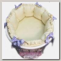 Комплект постели для овальной кроватки Marele Лавандовое Настроение 460410, 11 предметов