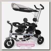 Элитный трехколесный велосипед для двойни Small Rider Platinum