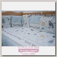 Комплект постельного белья в кроватку AmaroBaby Little Star, 18 предметов, сатин