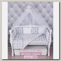 Комплект постели WB Premium в кроватку AmaroBaby Ламы, 15 предметов, бязь