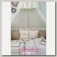 Комплект постели для круглой и овальной кроватки Marele Топленое Молоко 460274-ов, 19 предметов