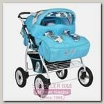 Детская коляска-трансформер для двойни Kacper Duetto+P