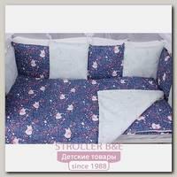 Комплект белья в кроватку WB AmaroBaby Baby Boom Лисички, 3 предмета