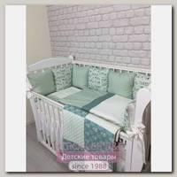 Комплект постели для прямоугольной кроватки Marele Зверята 460243-12, 18 предметов
