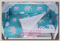 Комплект белья в кроватку WB AmaroBaby Baby Boom Слоники, 3 предмета