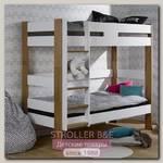 Двухъярусная кровать Junior Provence Scandi 90x190 (Blanc/Chene)