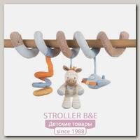 Мягкие игрушки Nattou Toy spiral Наттоу Той спираль Arthur & Louis Зебра и Носорог