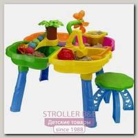Набор для песка RT Kinderway стол, стул, ведерко, сито, лопатка, грабли, пасочки