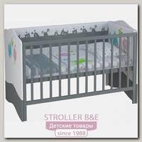 Детская кроватка-трансформер Polini Basic Монстрики