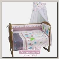 Комплект постели в кроватку Polini Монстрики, 7 предметов