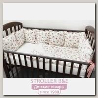 Комплект постели для кроватки Marele Розы 460011-пр, 16 предметов