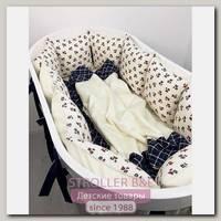 Комплект постели для круглой и овальной кроватки Marele Шотландский 460204-10, 18 предметов