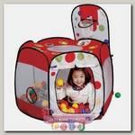 Детская палатка Calida Многоугольник с баскетбольным кольцом + 100 шаров